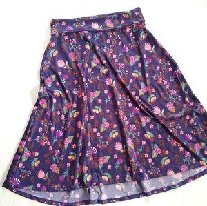 LuLaRoe Azure purple floral midi skirt